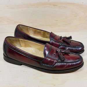 Cole Haan Pinch Burgundy Leather Loafers